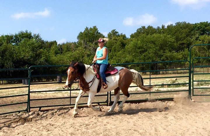 Donna cantering for the first time