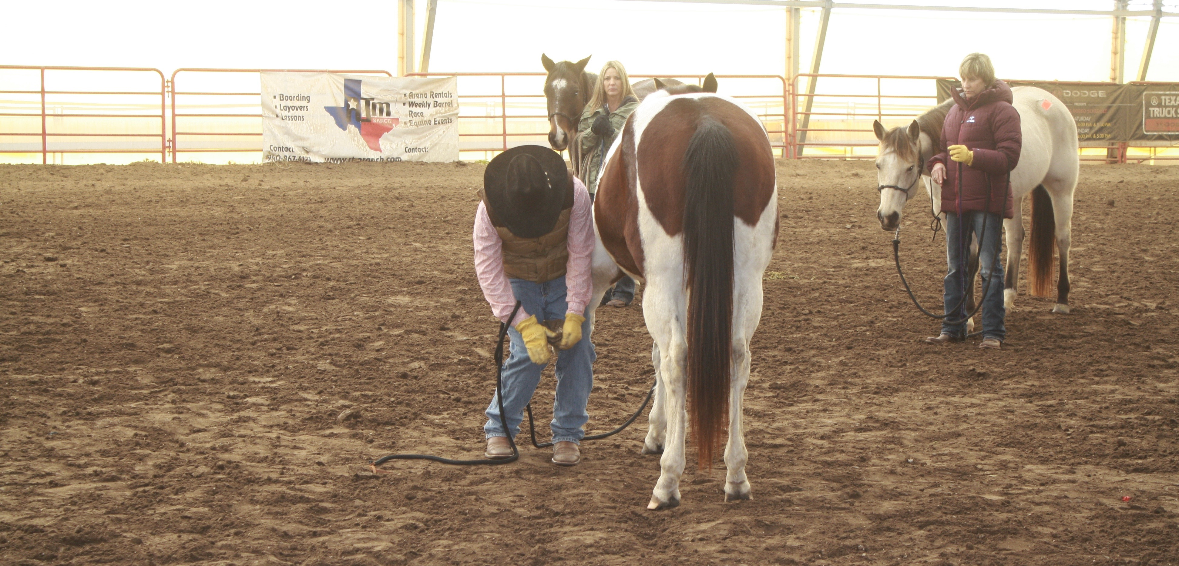 """I always believe you should be able to pick up your horse's feet quietly before asking your farrier to do it.""- Steve Stevens (Photo courtesy of Amanda Stevens)"