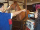 A resting upper airway endoscopy is performed with the horse standing and restrained in stocks.(Photo by Lauren Lamb)