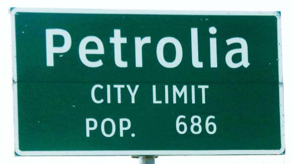 Population of Petrolia today. (Picture by Judy Wade)