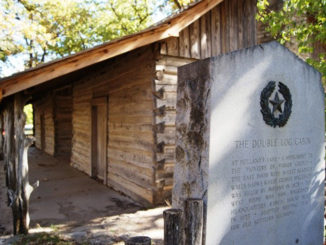 One of two log cabins at Holland Lake Park will be the   first to adorn DHCC's new onsite Pioneer Cabin Park. (Courtesy photo)