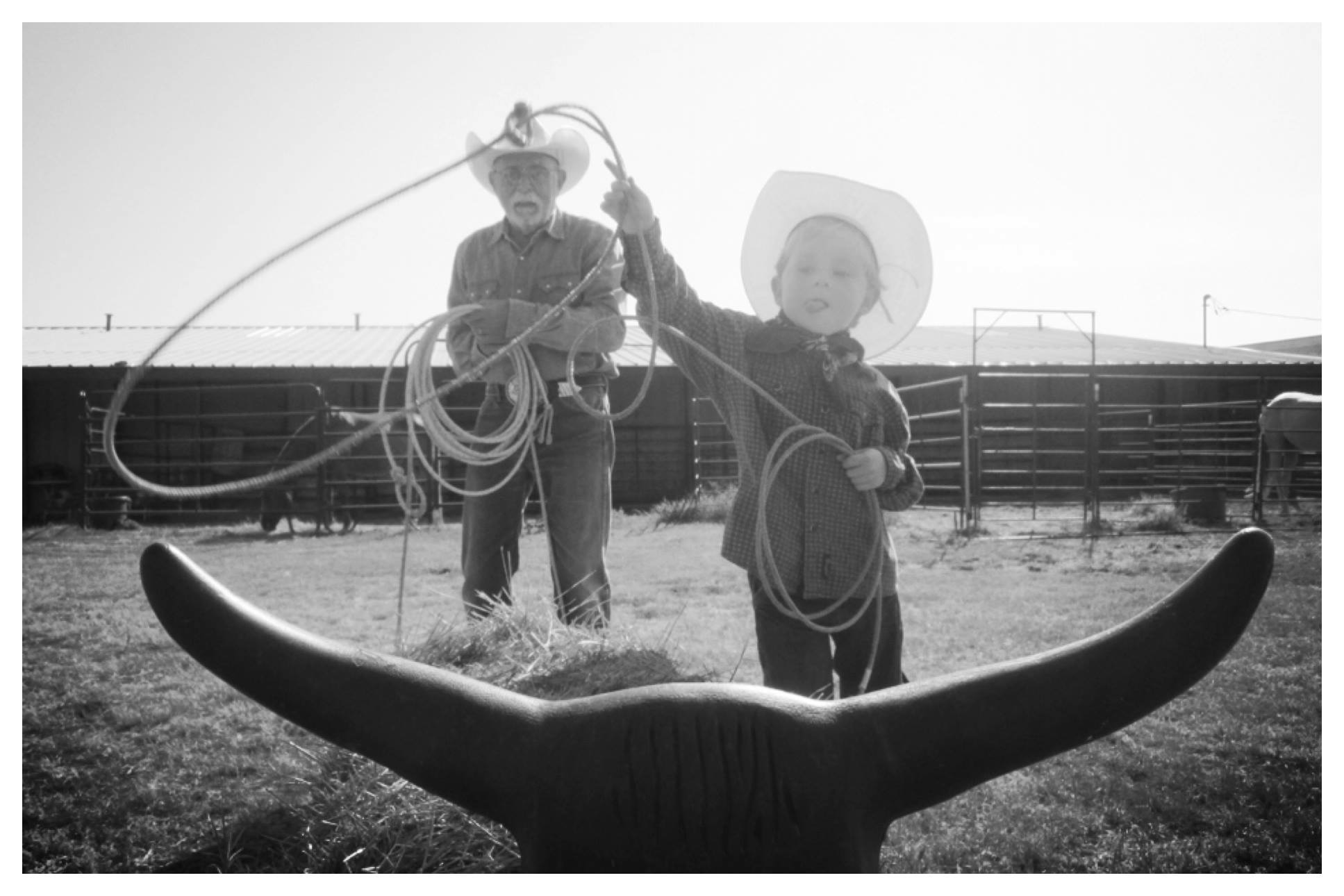 Roping lessons with Papa. (Photo courtesy of Steve Stevens)